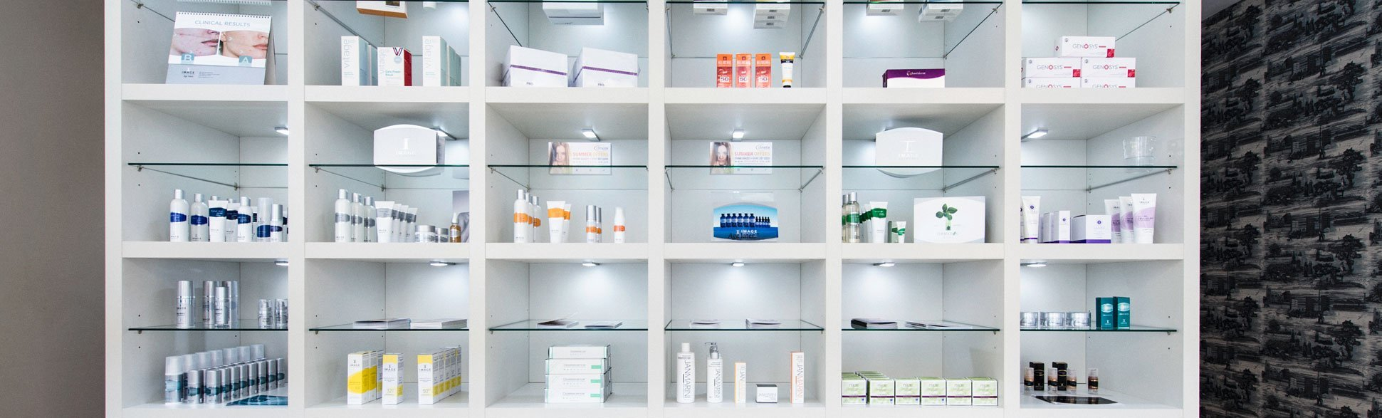Vast range of skincare products available at Clinetix Rejuvenation